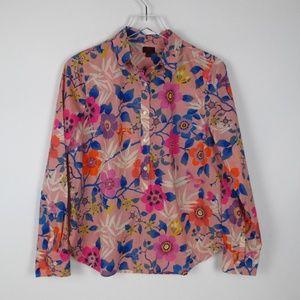 J. Crew NWT Liberty Print Fabric Pink Blouse